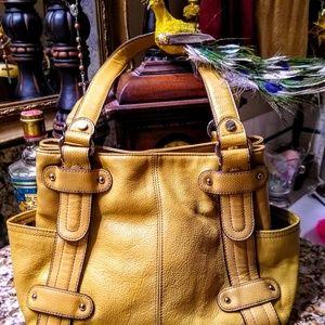 Yellow leather tignanello purse